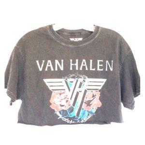 Van Halen Cropped Band T shirt